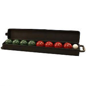 107 MM Bocce Ball Set with Wheeled Case