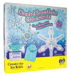 Beaded Snowflake Ornaments Set