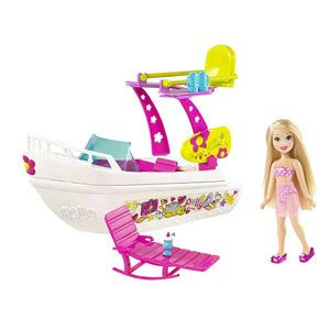 Polly Pocket Tropical Splash Adventure Playset, Boat, and Dolls