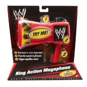 World Wrestling Entertainment Ring Action Megaphone