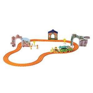 Dino Track Adventure Set - Motorized Dinosaur Train Set