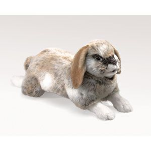 Holland Lop Rabbit Puppet and Finger Puppets