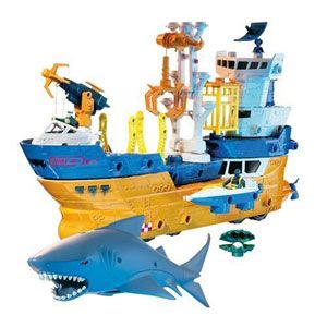 Matchbox Mega Rig Shark Ship