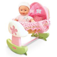 Fisher-Price Little Mommy Rocking Bassinet and Travel Bed