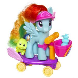 My Little Pony Riding Along with Rainbow Dash