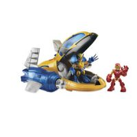 Marvel Super Hero Adventures Rescue Jet with Wolverine & Iron Man