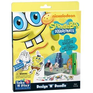 Take 'N' Play Anywhere SpongeBob SquarePants Design 'N' Doodle