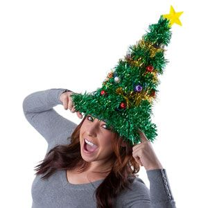 Light - Up Christmas Tree Hat