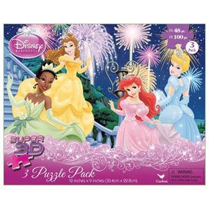 Disney Princess Super 3D 3 Puzzle Pack