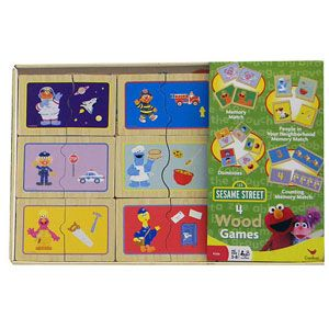 Sesame Street 4 Wood Games
