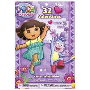 Dora the Explorer Valentine's Day Cards
