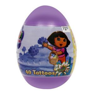 Dora the Explorer Easter Tattoos