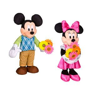 Easter Greeters Mickey Mouse and Minnie Mouse