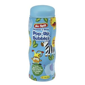 No-Spill Squeeze n Blow Pop-Up Bubbles
