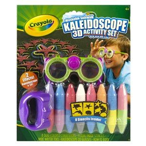 Washable Sidewalk Kaleidoscope 3D Activity Set