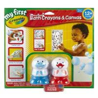 My First Crayola Washable Bath Crayons & Canvas