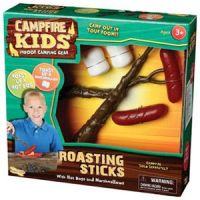 Campfire Kids Roasting Sticks with Hot Dogs & Marshmallows