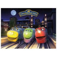 Chuggington End of the Day 100-piece Glow-in-the-Dark Puzzle