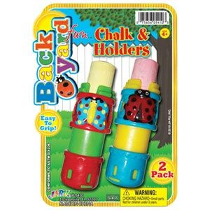 Backyard Fun Chalk & Holders