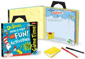 Dr. Suess Game Time! Write and Wip Activity Tote