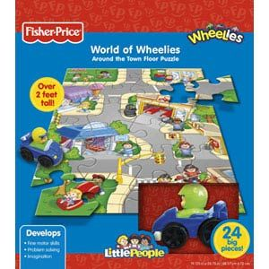 Fisher-Price Little People World of Wheelies Floor Puzzles