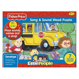 Fisher-Price Little People Song & Sound Wood Puzzles