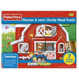 Fisher-Price Little People Discover & Learn Chunky Wood Puzzles