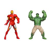 Marvel The Avengers Mighty Battlers Repulsor Battling Iron Man and Fist Smashing Hulk