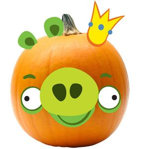Angry Birds Pumpkin Push-Ins
