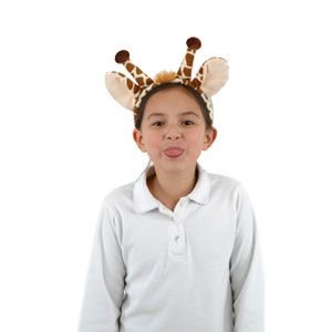 Zebra, Tiger, and Giraffe Costume Kits