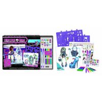 Monster High High Voltage Fashion Sketch Portfolio Set