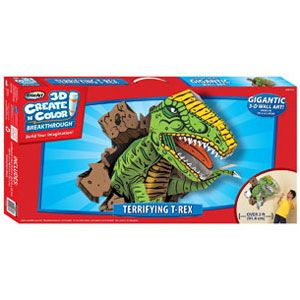 3D Create n Color Breakthrough Terrifying T-Rex
