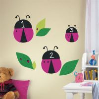 ONE decor Lady Bugs Chalkboard Wall Decals