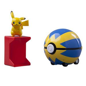 Pokemon Catch N Return Pokeball-Pikachu and Quick Ball