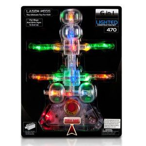 Laser Pegs 6 in 1 Lighted Construction Set