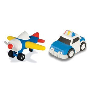 Planetcare Airplane and Police Car