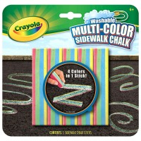 Washable Multi-Color Sidewalk Chalk
