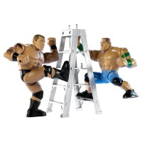 WWE Power Slammers Steam Rolling Randy Orton and Thunder Twisting John Cena