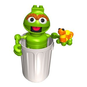 Oscar the Grouch and Slimey the Worm Building Set