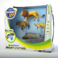 Discovery Kids Grassland Smart Animals-Four-Pack