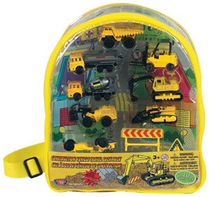 Construction Vehicles Backpack