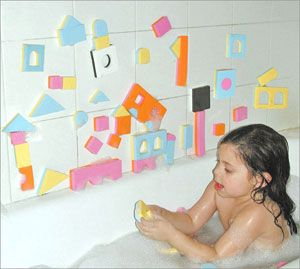 Wet & Stick Tub Fun Blocks