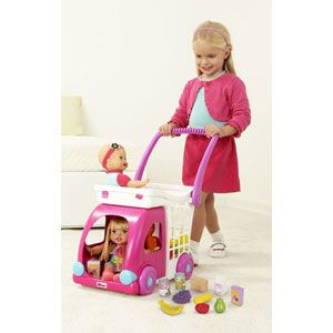 Fisher-Price Little Mommy Ride n Drive Shopping Cart