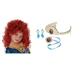 Disney/Pixar's Brave's Merida Wig & Glowing Jewelry Set