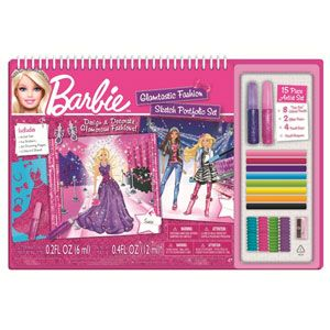 Barbie Glamtastic Fashion Sketch Portfolio
