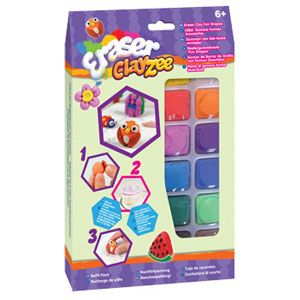 ClayZee Eraser Girls 12 Color Pack