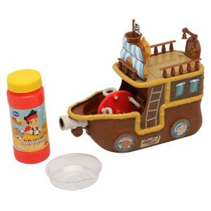 Jake and the Never Land Pirates Yo Ho Let's Go! Pirate Ship Bubble Machine